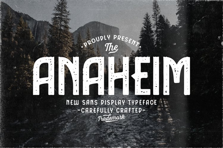 Anaheim Sans Display Typeface example image 1