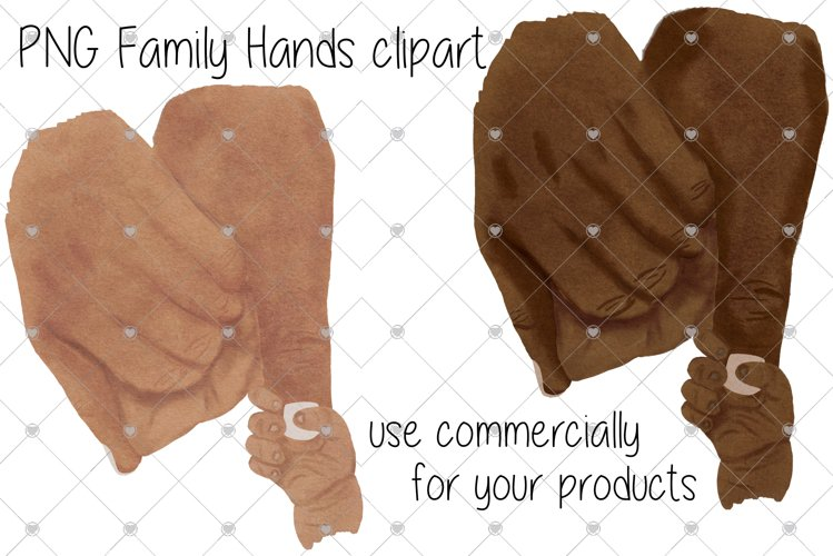 Hand Clipart, Family Hands Clipart, baby hand clipart,