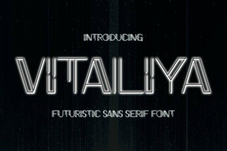 Web Font Vitaliya Font example image 1