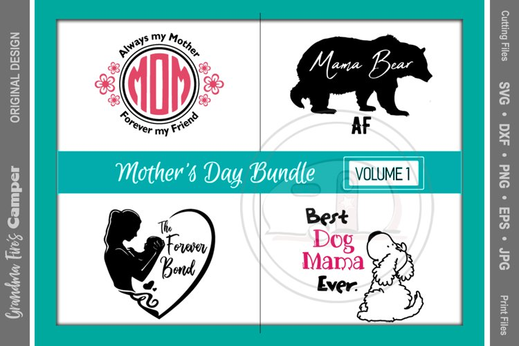 Mother's Day SVG Bundle, Vol 1 example image 1