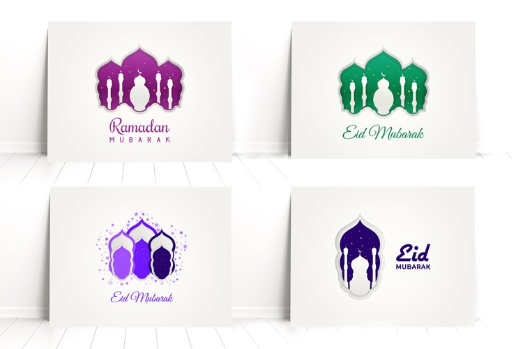 Modern and beautiful Islamic decoration with paper cut style