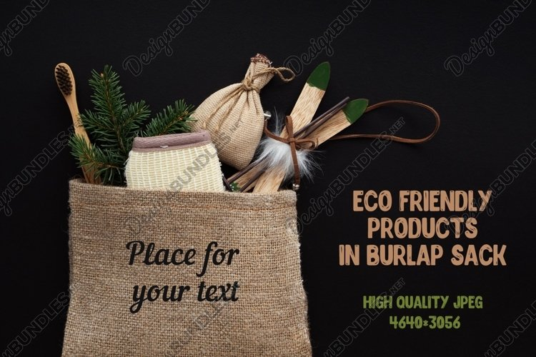 Zero waste Christmas flat lay with bath accessories