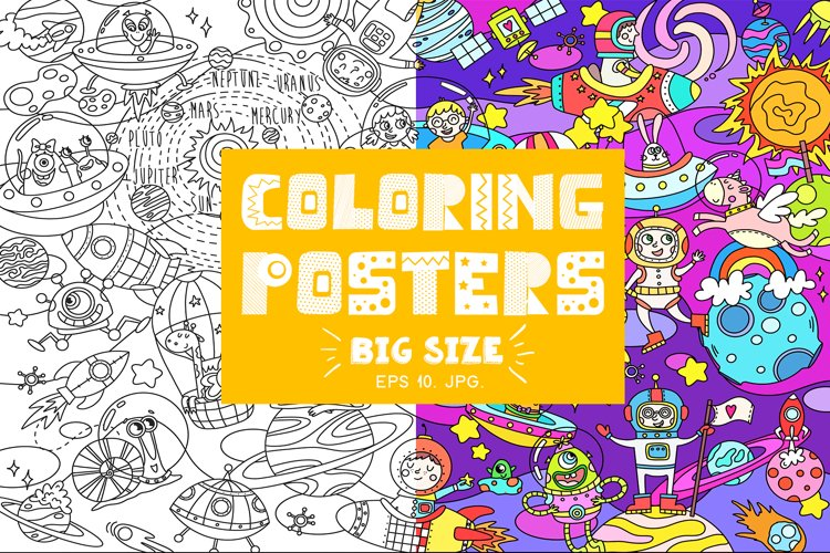 COLORING posters for kids