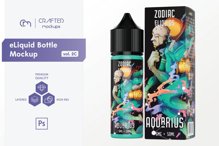 eLiquid Bottle Mockup v. 2C example image 1