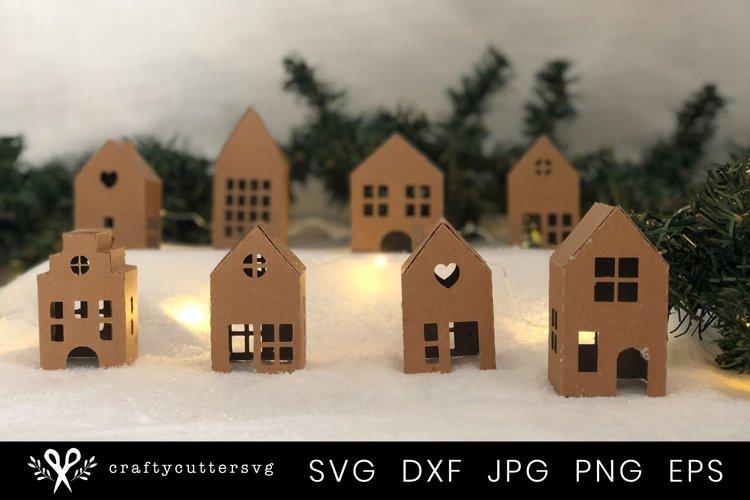Christmas Village Svg Bundle  DIY Christmas 3D House - Free Design of The Week Design1