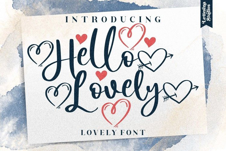 Hello Lovely - Beautiful Lovely Script Font example image 1