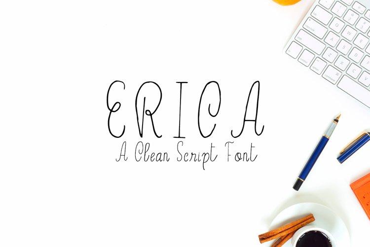 Erica Script Font example image 1