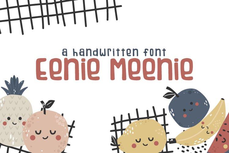 Eenie Meenie Handwritten Font example image 1