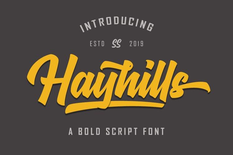 Hayhills Script example image 1