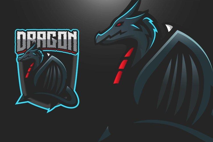 Dragon mascot gaming logo example image 1