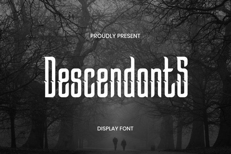 Web Font Descendants Font example image 1