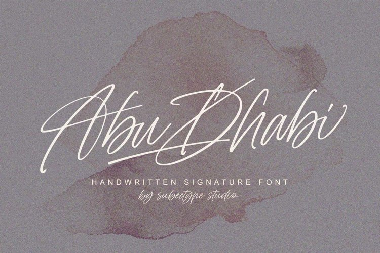 Abu Dhabi - Handwritten Signature Font example image 1