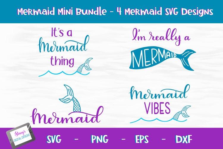 Mermaid SVG Bundle - 4 Mermaid SVG designs example image 1