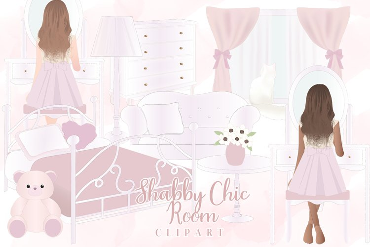 Shabby Chic Girl Room Clipart example image 1