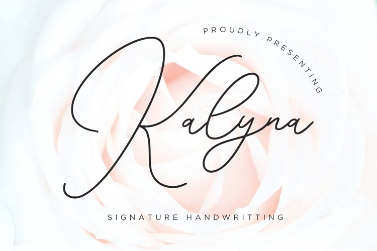 Kalyna Signature Handwriting example image 1