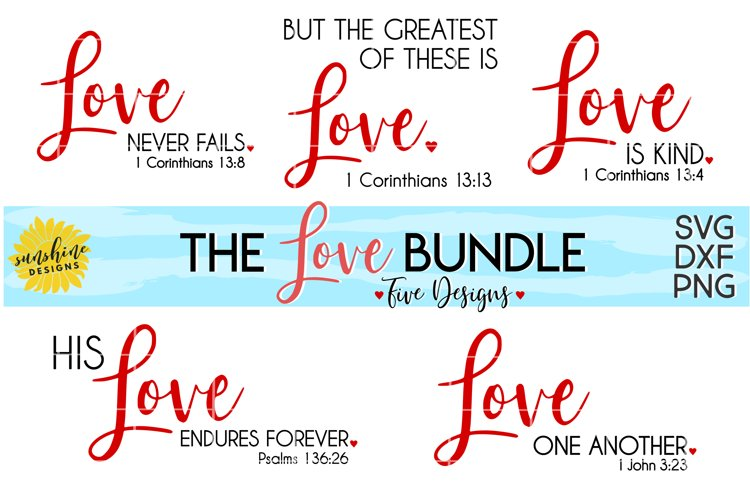 The Love Bundle | Love is Kind | Valentines Day SVG DXF PNG
