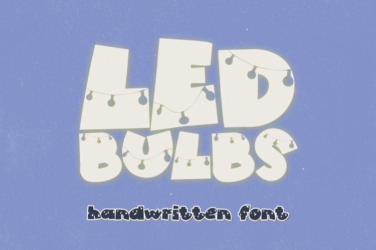 LED Bulbs - A Dangled Handwritten Display Font example image 1
