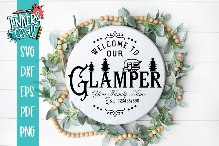 Custom Welcome To our Glamper SVG DXF Commercial example image 1