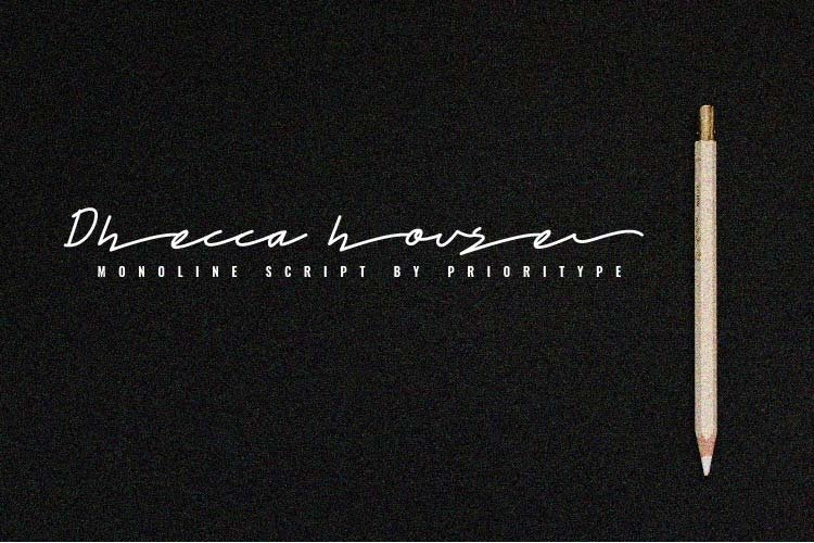Dhecca House - Monoline Script example image 1