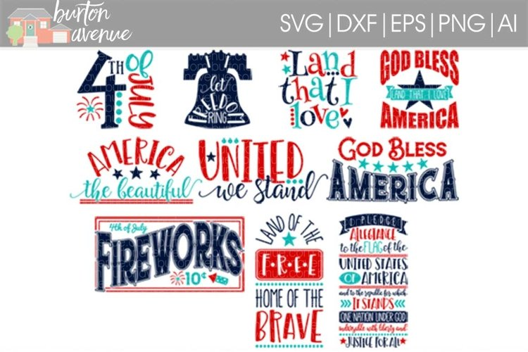 Patriotic SVG Bundle-cut files for Cricut, Silhouette example image 1