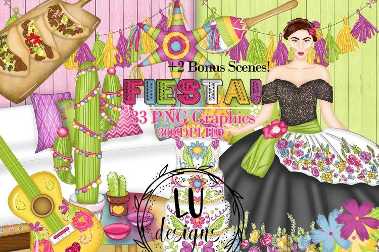 Cinco De Mayo Clipart, Mexico Clipart, Fiesta Graphics example image 1