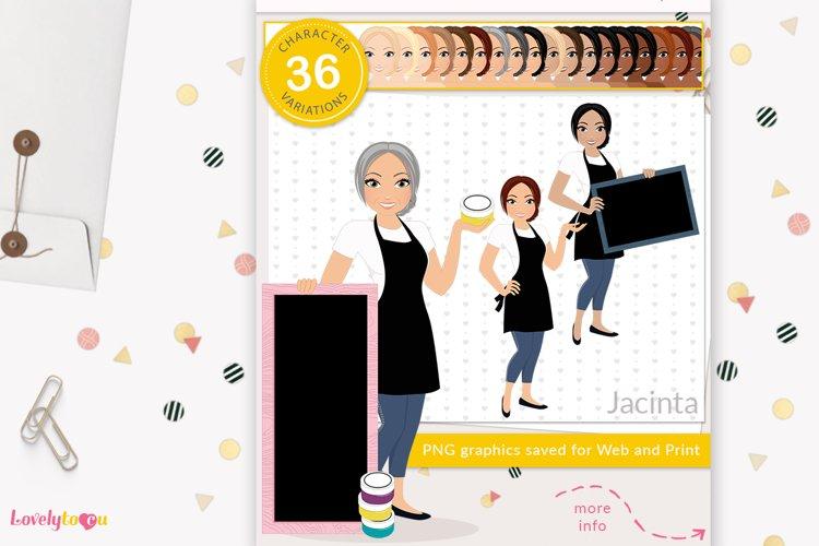 Chalk artist woman, avatar clipart, LVC70 Jacinta