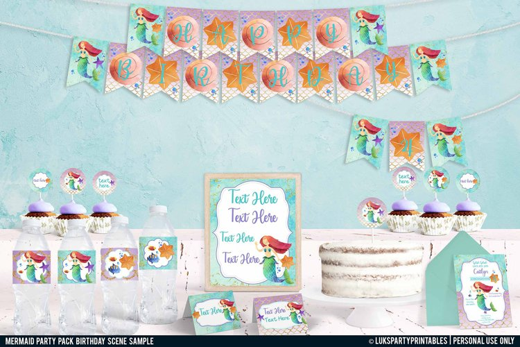Mermaid Birthday Party Printables, Party Printables