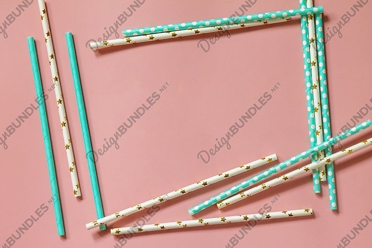 Biodegradable drinking straws for party. example image 1