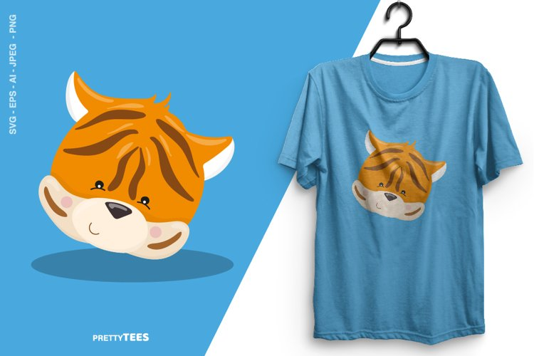 Animal Face Tiger T-Shirt Design | Sublimation T-Shirt example image 1