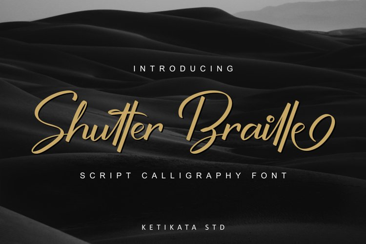 Shutter Braille Script example image 1