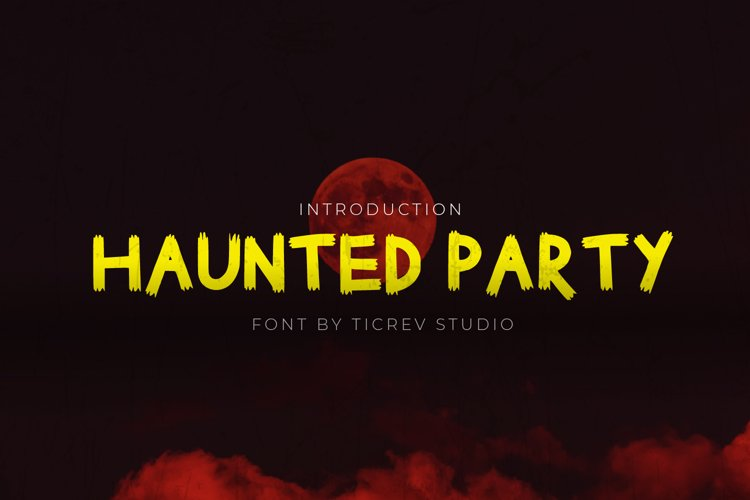 Haunted Party - Horror Display Font example image 1