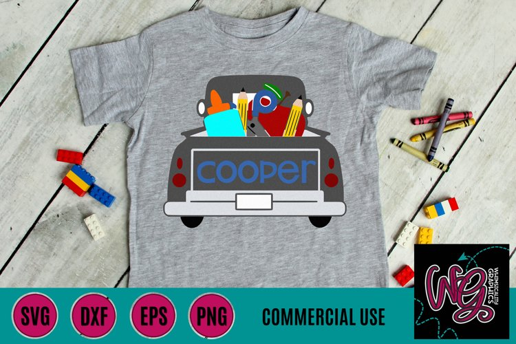 Back to School Truck SVG, DXF, PNG, EPS Comm