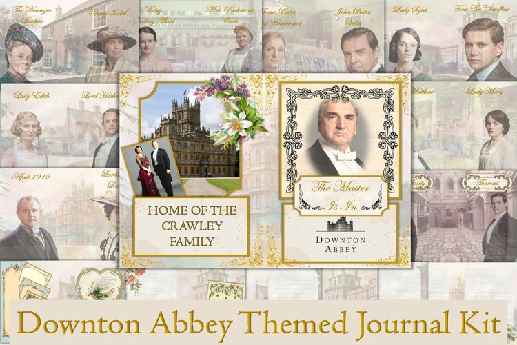 Downton Abbey Themed Journal Kit. 28 Pages Free Ephemera example image 1