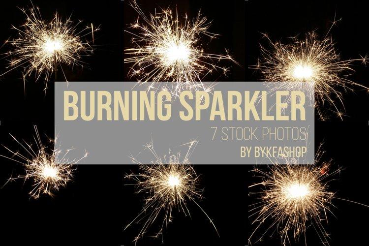Bright Burning Sparklers Stock Photo Bundle