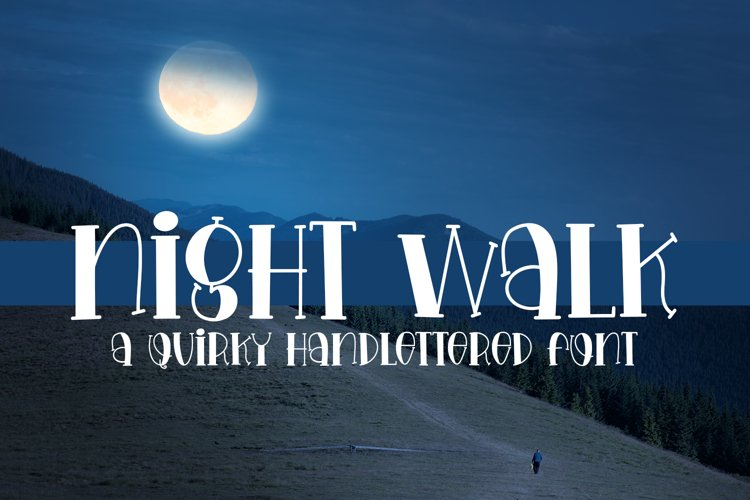 Night Walk - A Quirky Handlettered Font example image 1