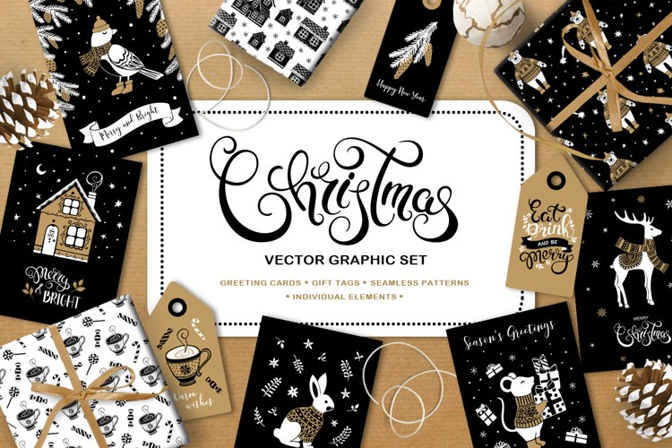 Christmas vector graphic set example image 1