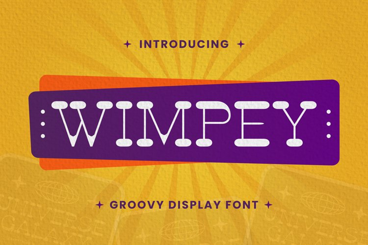 Wimpey Font example image 1
