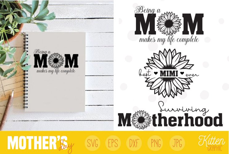 Mothers Day, Sunflower, Bundle