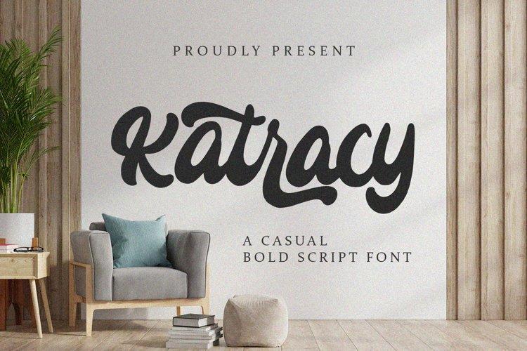Katracy - Bold Script Font example image 1