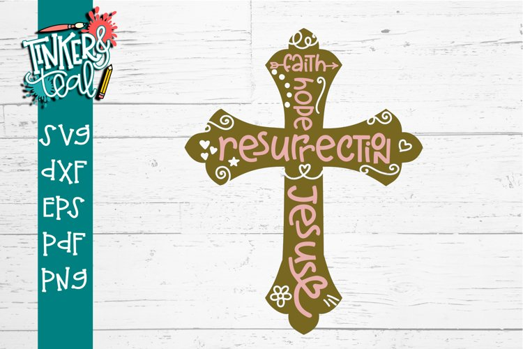 Subway Easter Cross SVG DXF PNG PDF Cut File