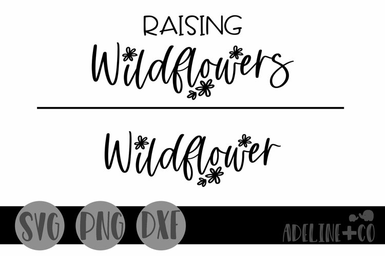 Raising wildflowers, matching, SVG, PNG, DXF example image 1