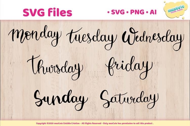 Day of the week - SVG Hand Lettered Pack example image 1