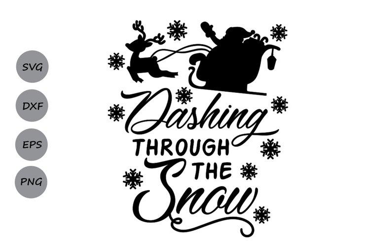 dashing through the snow svg, christmas svg, snowflakes svg. example image 1