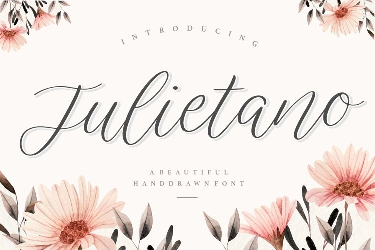 Julietano Beautiful Handdraw Font example image 1