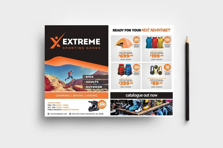 Sports Outlet Flyer Template example image 1