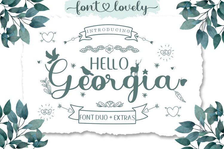 Hello Georgia Font Duo Extras example image 1