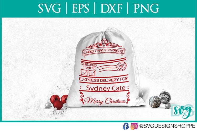 Christmas Express, Santa Sack, SVG, PNG example image 1