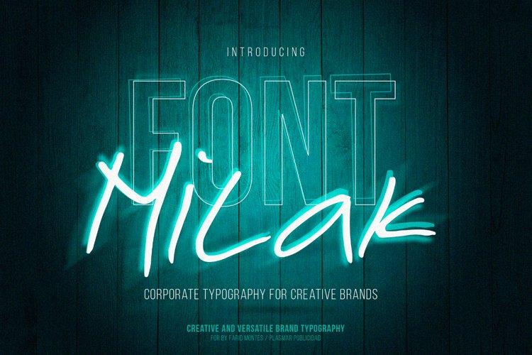 Milak Font example image 1