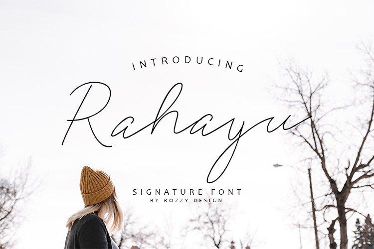 Rahayu Signature Font example image 1