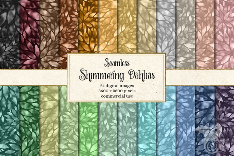 Shimmering Dahlias Digital Paper example image 1